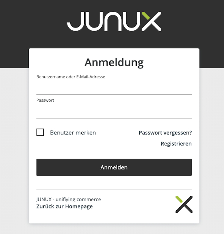 Junux Account Login